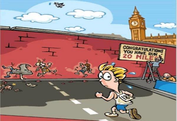 برخورد با دیوار در دویدن